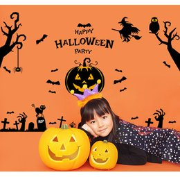 Wholesale poster new - New Halloween supplies wall poster Glass is stuck Pumpkin decoration pinup picture