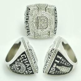Deutschland Klassen-Sport-Schmuck Boston Bruins Stanley Cup-Meisterschafts-Ring 2011, silberner überzogener Ehering-Band-Ring des Mannes Versorgung