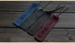 Argentina Venta caliente de cuero Vintage clave clave y el azul, verde y rojo, negocios tres párrafos creativos marcadores envío gratis Suministro