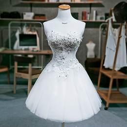 Vestido de fiesta de novia de encaje de tul vestido de cóctel 2019 Nuevo encaje hasta vestidos de fiesta por encargo envío de la gota desde fabricantes