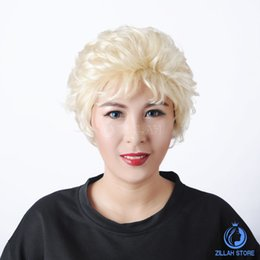 Wholesale Woman Beautiful Short Wigs - Free Shipping Hot Sale Discount Beautiful Charm Popular Short Curly Wigs Cheap Blond fluffy Wigs European Style Sexy Fashion Women wigs