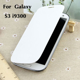 Wholesale Leather Book Cover Galaxy S3 - S3 Hot Flip PC + PU Leather Book Style Cover Case for Samsung Galaxy S3 i9300 Protective Cell Phone Cases Shell Colorful