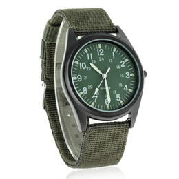 Wholesale Soldier Water - Hot sell 2015 New Fashion brand Soldier Military Quartz Canvas Strap Fabric Watch Outdoor Sports Watches For Male Casual and sport
