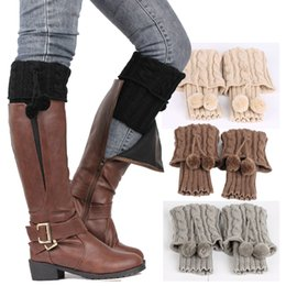 2016 hot sale women apparel accessories Twist double ball socks leg warmer fashion socks boot covers free shipping in stock Coupons