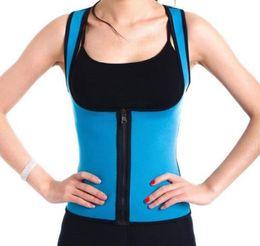 Blaue taille, die gürtel abnimmt online-Blau Schwarz Abnehmen Redu Thermo Cami Hot dünner Gurt Neopren-Former-Weste Sweat Taille Trainers Frauen Shapewea