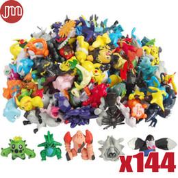 figura de una pieza Rebajas Nuevo 144 unids Mini Figuras de Acción de Perlas Aleatorias Juguetes Pikachu Doll 2-3 cm Anime Brinquedos Niños Colección de Regalos Al Por Mayor