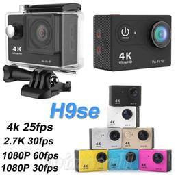 Wholesale Action Camera Cheap - DHL 10pcs Cheap 4K 25fps Action Camera EKEN H9se 2.0 inch LCD 1080P 60fps Waterproof Sports DV H9 Se