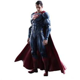 Wholesale Play Superman - 170613 QIUCHANY Nendoroid Wholesale 25cm Play Arts Kai Superhero Superman PVC Action Figure Gift Toy Hobby