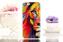"""Wholesale Crafts Wholesale For Phone Cases - Fashion Ultra Thin Blue Ray Crafts Soft TPU Phone Case Cover For iPhone 5se 4"""" 6 6s Plus 4.7""""&5.5"""" Painted Animals Back Cover"""