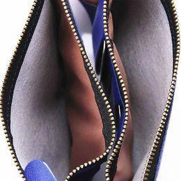 Wholesale Money Clip Wallet For Women - 12 Cards Slot Multifunction Leather Men Women Wallet Clutch carteras Money Clip Zipper Male Female Bag Universal Cross Mobile phone Purses