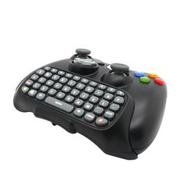 Xbox controller wireless black on-line-Preto Sem Fio Mensageiro Chatpad Teclado Teclado Almofada de Texto para Xbox 360 Controlador Xbox360 tempo feliz Atacado