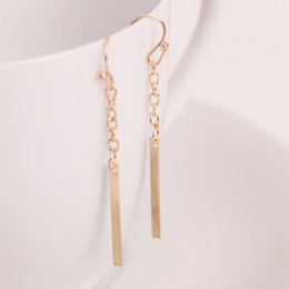 Wholesale Ear Cuff Earrings Studs - E036 Long Line Chain Earrings 18K Platinum Gold plated Fashion Drop Dangle Earring Jewelry Ear Cuff For Women Brincos