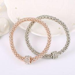 Wholesale Pandora Gold Flower - Wholesale 18K Rose Gold Bracelet for Pandora