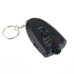 Wholesale Breath Keychain - with Retail Box Portable mini Keychain LED Alcohol Breath Tester Breathalyzer with FlashLight Free DHL