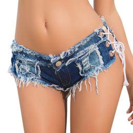 Wholesale Thongs Women New Hot - Summer Hot New Fashion Sexy Super Mini Shorts Ladies Thong Short Jeans Feminino Preto Denim Shorts Women Sexy Micro Shorts