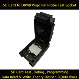 Wholesale Sd Card Chip - SD Card to DIP48 Test Socket Clamshell IC Test Socket Burn in Socket SD Chip Test Socket