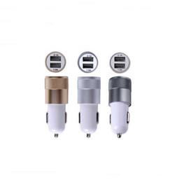 Wholesale Iphone Auto Accessories - Portable Alluminio USB Dual 2 Port Adattatore di Alimentazione Mini Caricabatterie Auto IPhone IPad Samsung Accessory del Telefono Cellulare