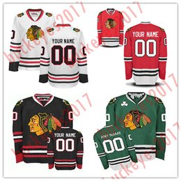 bfd2d893e Custom Chicago Blackhawks Mens Womens Youth 2017 Winter Classic Jerseys  Green White Red Black Stitched Any Name Number Hockey Jerseys S-4XL