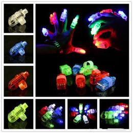 magie grandes illusions Promotion LED allumé jouets anneau de doigt LED lumières lueur laser rayons faisceau parti flash enfant joue 100pcs