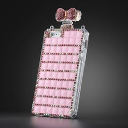Wholesale White Lady Perfume - Diamond Case Iphone 6 Case For Samsung S7 S6 edge Colorful Lady Crystal Perfume Bottle With Necklace Backcover Bling Case Retail Package