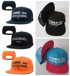 Wholesale Comme Des Fuckdown Red - COMME des FUCKDOWN Caps Fashion Street Snapback Hat Hip Hop Sport Popular Panel Baseball Summer Cool Casquette Ball Adjustable Professional