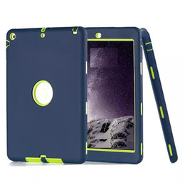 Wholesale Ipad Military Cases - For ipad case defender shockproof Robot Case military Extreme Heavy Duty silicon cover for ipad 2 3 4 5 6 air mini 4 DHL Free Shipping
