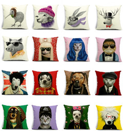 Wholesale Decor Pillow Cases - Dog Cosplay Lady Gaga Michael Jackson Cushion Covers Stug Kiwi Bird Pillow Cases Dolphin Star Fish Custom Wholesale Pillows Decor