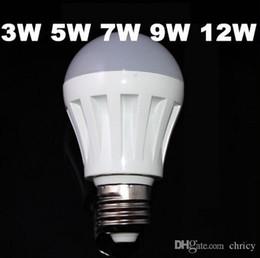 Wholesale Cheap Led Lamps - E14 E27Led cheap Bulb 3W 5W 7W 9W 12W 110V 220V Warm Cold White smd2835 plastic led lamp