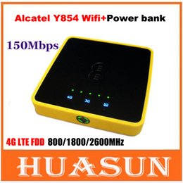 Wholesale Mobile Broadband Free - DHL EMS free shipping EE Alcatel Y854 4G LTE Mobile Broadband FDD800 1800 2600MHZ 150Mbps wireless wifi Hotspot router