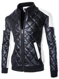 Wholesale Men White Leather Motorcycle Jacket - winter men's leather jacket men motorcycle jacket jaqueta couro plus size slim fit leather jackets coats brand clothing 5XL