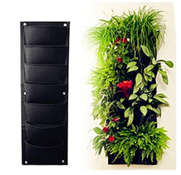 Wholesale Eco Fiber - 7 Pocket Vertical Garden Plant Grow Container Bags, Living Wall Hanging Planter, Eco-friendly Green Field Pot for Herbs Strawberries Flowers