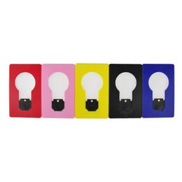Wholesale Lamp Lighter - LED Card Light Pocket Lamp LED Flashlight Lighters Portable Mini Light Put In Purse Wallet Size Emergency Light Portable Tool H70