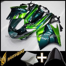 Wholesale 1992 Zx11 - 23colors+8Gifts GREEN motorcycle cowl for Kawasaki ZX-11 ZZR1100 1990 1991 1992 ZZR1100 90-92 ABS Plastic Fairing