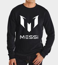 Wholesale Barcelona Black - Wholesale-2016 new barcelona soccer messi men autumn winter fashion brand hoodies casual hoodie sweatshirt streetwear harajuku fleece