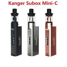 Wholesale E Cigarette Kanger Kits - Authentic Kanger Subox Mini C starter kits E-cigarette Kangertech Kbox Mini-c with Protank 5 Top Fill Atomizer SSOCC 0.5ohm coil Free DHL