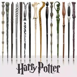 Wholesale Harry Box - Harry Potter Magic Wand with Ollivanders Wand Box 18 Roles Hermione Voldermort Magic Wands with Metal Core Halloween Cosplay Novelty Toy