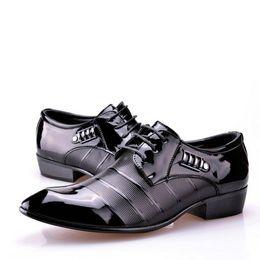 Wholesale Lace Formal Shoes For Men - Fashion men patent leather shoes for men lacing dress shoes business formal office work shoes man oxfords wedding shoe