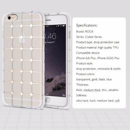 Телефон рок-корпусов онлайн-Рок Мягкий силиконовый чехол для iPhone 6 6 plus 0.3 mm TPU кристально чистый прозрачный телефон случаях для iPhone 6s 6s plus