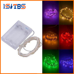 Wholesale Green Tree Home Wholesale - 3M 30LEDs AA Battery Operated Led String Mini LED Copper Wire String Fairy Light Christmas Xmas Home Party Decoration Light Warm Pure White