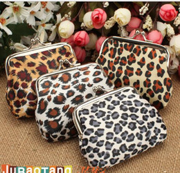 Wholesale Small Ladies Coin Purse - Coin Purse New Fashion Women Girl Leopard Short Key Money Wallet Soft Burse Change for Ladies Small Gifts Convenient Holder