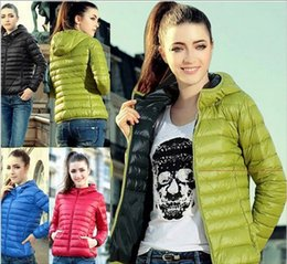 Wholesale Thin Down Jacket Women Green - Free Shipping 2016 new autumn and winter women's models European and American long-sleeved cap thin cotton jacket jacket cotton short jacket