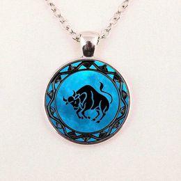 Wholesale Pisces Gifts - zodiac Leo symbol pendant pisces blue pisces zodiac necklace Libra astrology Sagittarius horoscope jewelry Scorpio jewellery