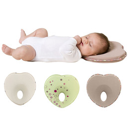 Wholesale Baby Anti Roll Pillows - Retail Newborn Anti Roll Pillow Toddler Comfortable Safe Sleep Head Positioner Anti-rollover Baby Pillow Head Shape Baby Shaping Pillow