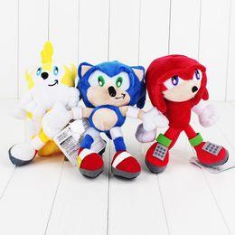 """Brinquedo macio sônico on-line-Frete Grátis 8 """"20 cm Sonic the Hedgehog Bichos de Pelúcia Boneca de Pelúcia Macia Para As Crianças"""