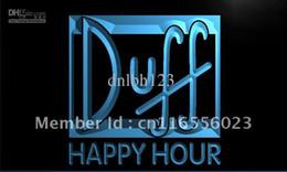 Wholesale Duff Beer - LA631-TM Duff Happy Hour Beer Bar Pub Neon Light Sign Advertising