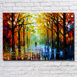 Wholesale Wall Hanging Oil Painting Frame - Wall Hanging Scenery Painting Modern Living Room Decoration Hand Painted Knife Oil Painting Modern Canvas Art No Framed