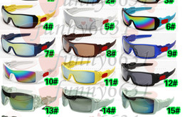 Wholesale Coloured Frame Sunglasses - New Arrival summer men Cycling Sports Sunglasses woman goggle Bicycle Glass Dazzle colour glasses 19 colors Only sunglasses A++free shipping