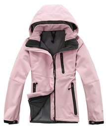 Wholesale Ladies Hoodie Fleece Jackets - Outdoor Winter Windproof Breathable Waterproof Jacket Ladies Fleece SoftShell Ski Suits Womans Down Hoodies Coats S-XXL