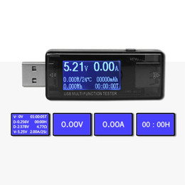 2019 aa embalagem da bateria Usb Multi Função Detector Usb Corrente Do Telefone Móvel Protetor de Corrente E Tensão Usb Voltage Tester