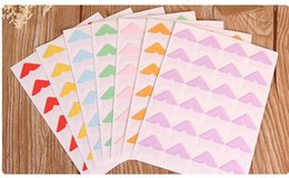 Wholesale Diy Scrapbook Decoration - Paper Photo Corner Stickers For DIY Photo Album Scrapbook Decoration 24pcs sheet, 7sheets  lot Free Shipping